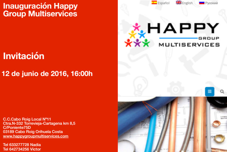 Inauguración Happy Group Multiservices